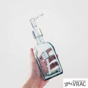 Distributeur de savon en verre - Mes courses en vrac
