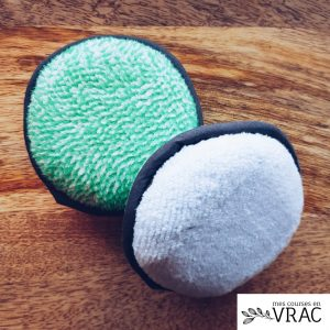 Eponge microfibre pour pierre d'argile - Mes courses en vrac