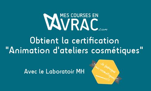 Couv - obtention certification ateliers cosmétiques