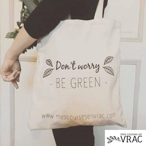 Totebag Mes courses en vrac dont worry