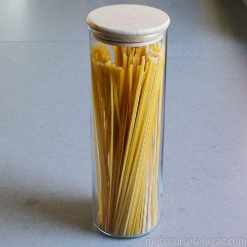 Bocal en verre hermétique 1,8L couvercle bois