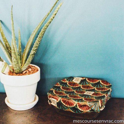 Emballages enduits à la cire végétale