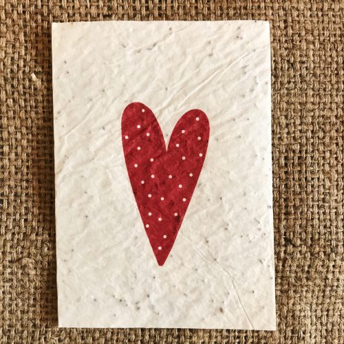 Carte ensemencée Coeur