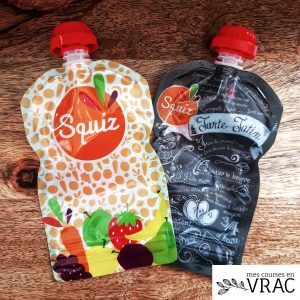Lot de 2 gourdes adulte - Mes courses en vrac