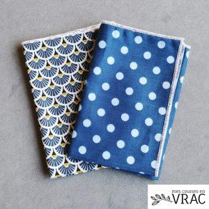 Mouchoir en coton BLUE - Mes courses en vrac