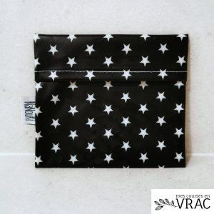 Pochette à savon black star - Mes courses en vrac