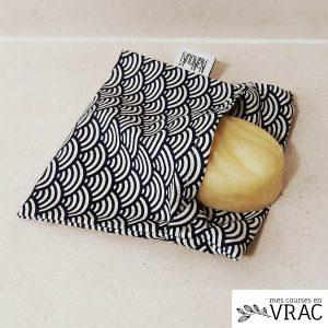Pochette en tissu enduit mozaique - Mes courses en vrac