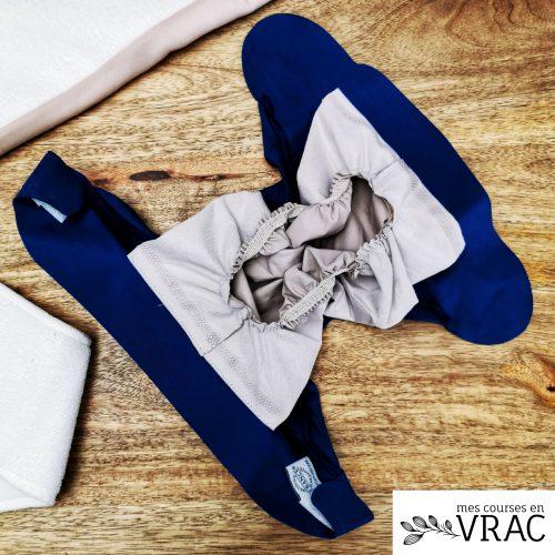 COuche lavable hamac bleu - Mes courses en v rac