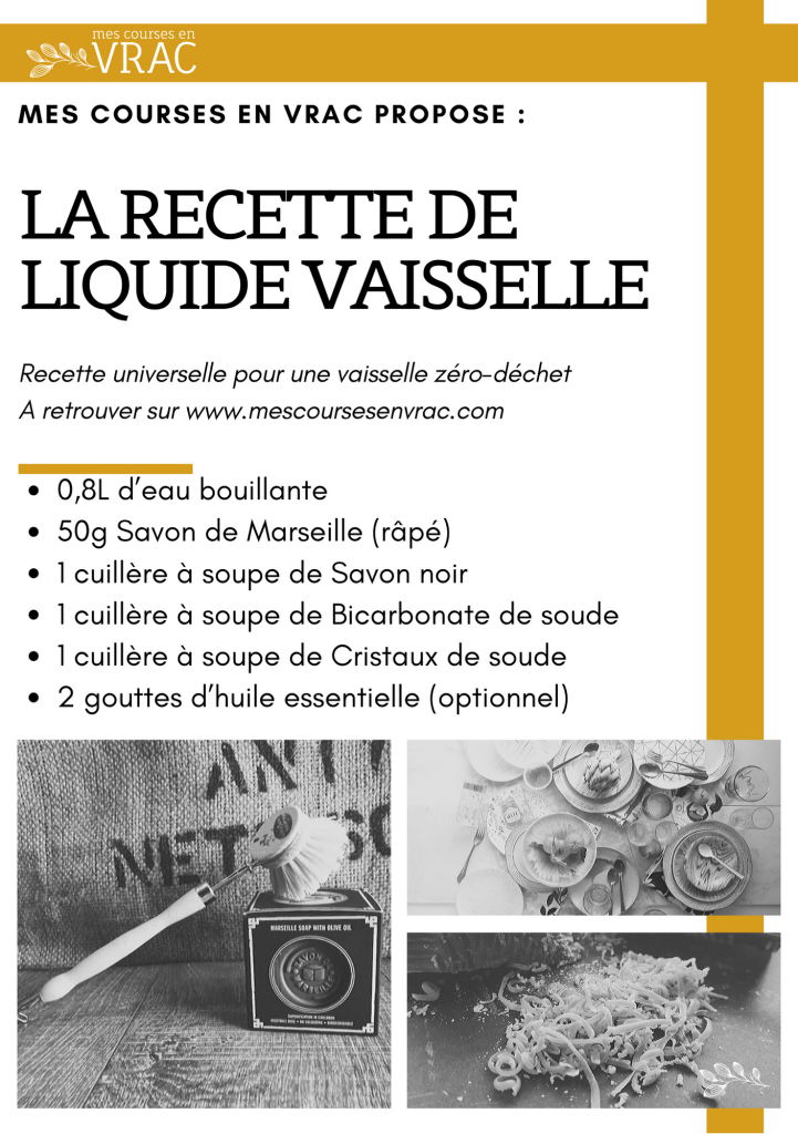 RECETTE DE LIQUIDE VAISSELLE